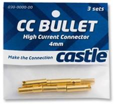 Castle Creations Goldkontakt - Stecker/Buchsen 6,5 mm (3 Paar)